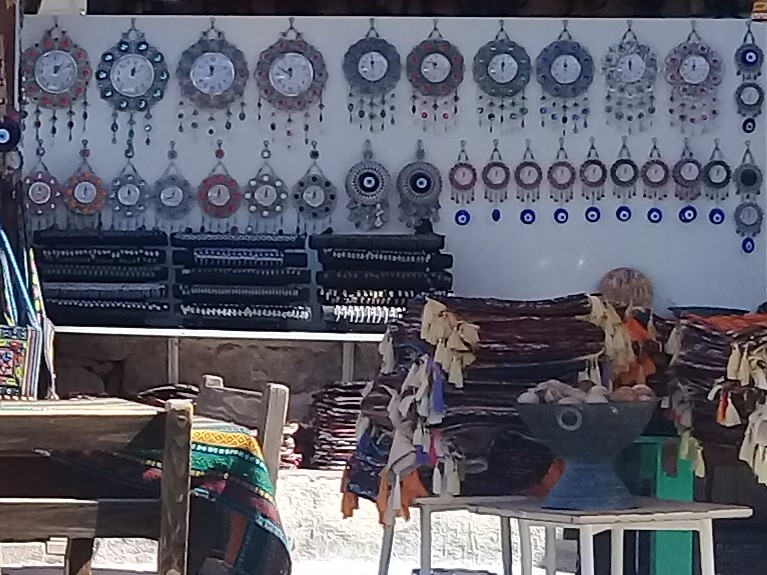 Sovenier shop selling evil eye
