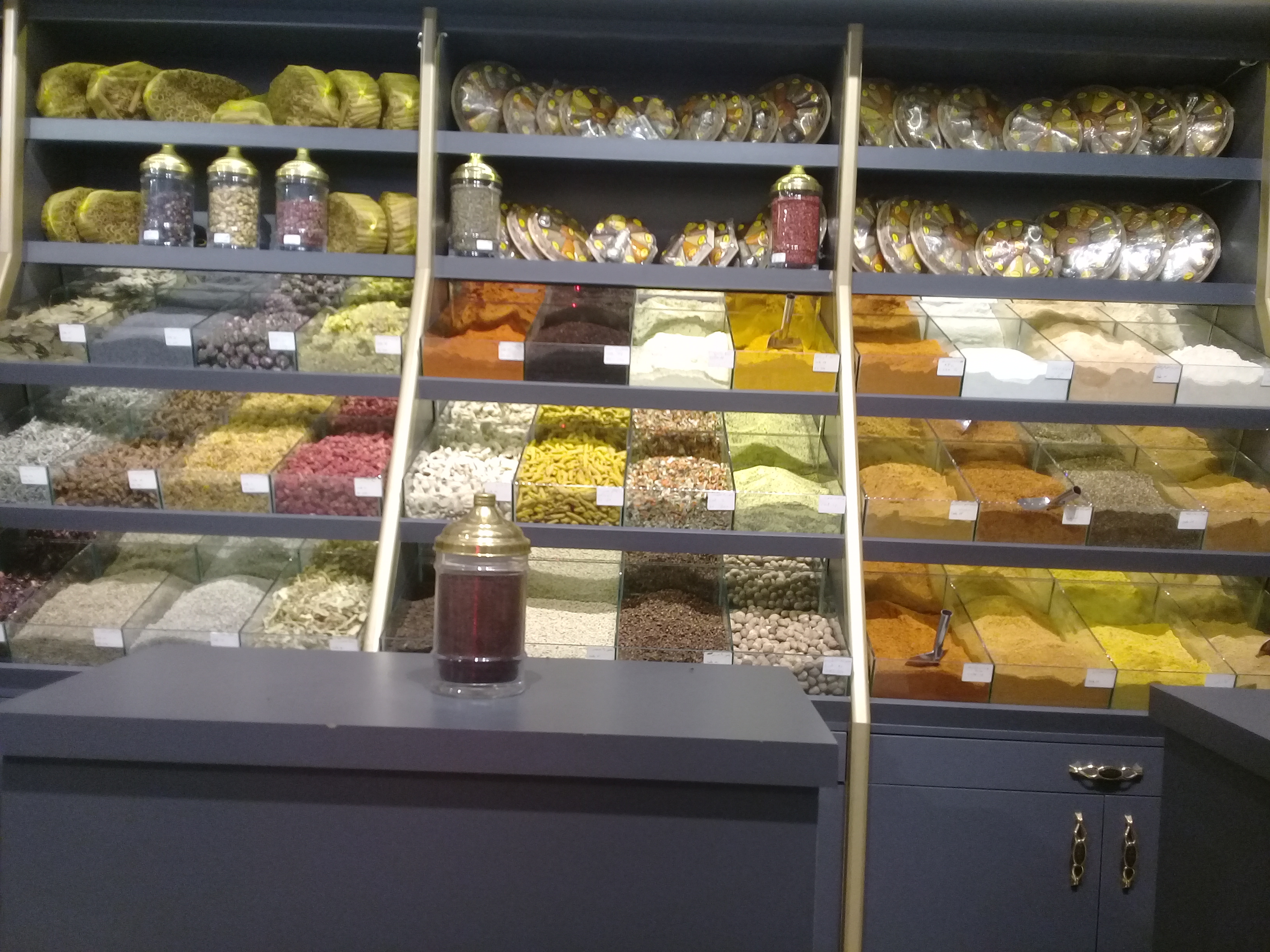 Spice Counter at Safranbolu Lokumcusu