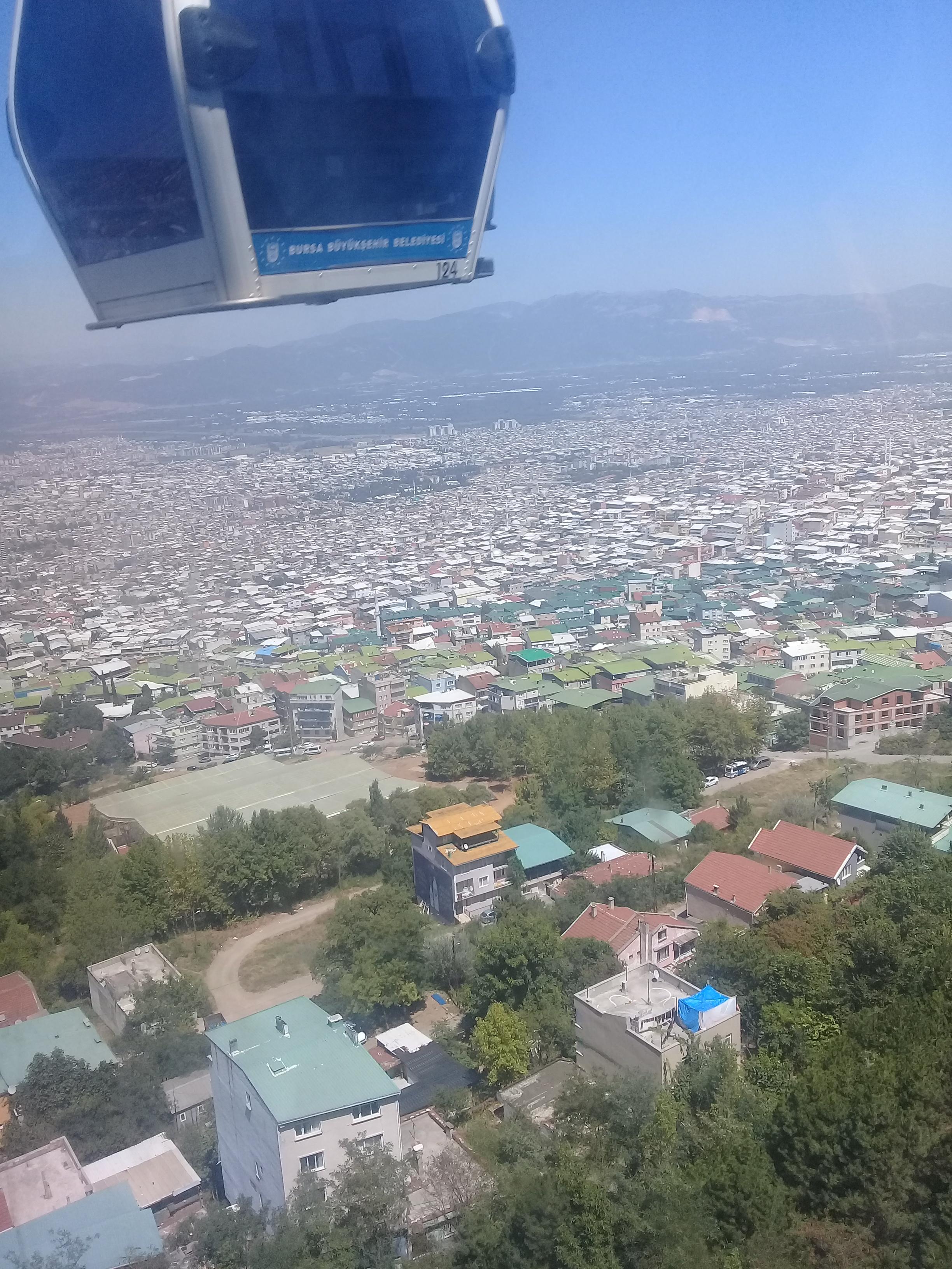 View of Bursa City from Teleferik